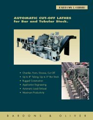 AUTOMATIC CUT-OFF LATHES for Bar and Tubular Stock