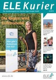 Die Region wird ELEktromobil - Emscher Lippe Energie GmbH