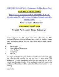 ASHFORD BUS 630 Week 1 Assignment Dell Inc. Paper (New).pdf