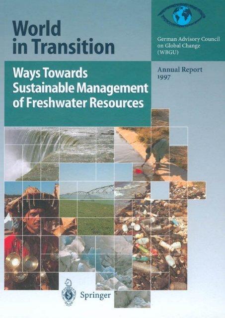 ways towards sustainable management of freshwater ...  - WBGU
