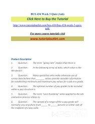 BUS 434 Week 3 Quiz (Ash). /Tutorialoutlet