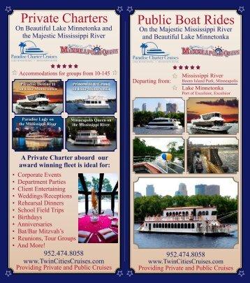 Private Charters Public Boat Rides