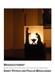 Der Weihnachtsbrief 2011 - Diözese Rottenburg-Stuttgart
