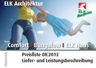 Comfort I Bungalow I ELK Haus ELK Architektur - Elk Fertighaus AG