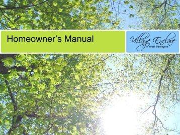 Homeowner's Manual