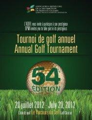 Tournoi de golf annuel Annual Golf Tournament