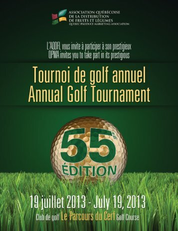 Tournoi de golf annuel Annual Golf Tournament