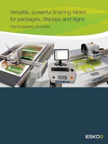 Versatile powerful finishing tables for packages displays and signs