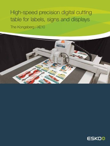 High-speed precision digital cutting table for labels signs and displays