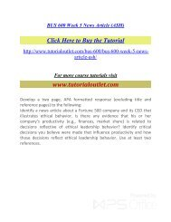 BUS 600 Week 5 News Article. /Tutorialoutlet