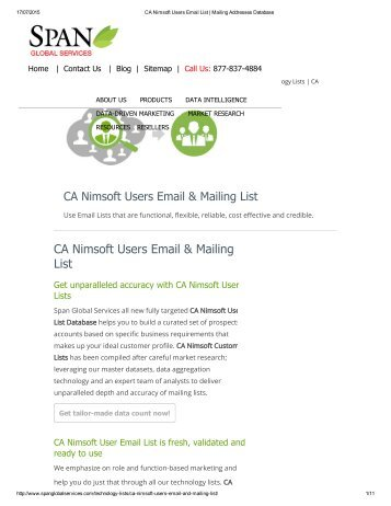 Get CA Nimsoft End User List from Span Global Services