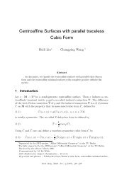 Centroaffine Surfaces with parallel traceless Cubic Form