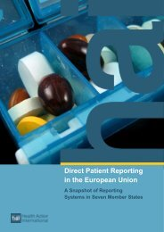 Direct Patient Reporting in the European Union