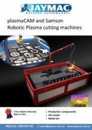 plasmaCAM ancl Samson Robotic Plasma cutting machines - Jaymac