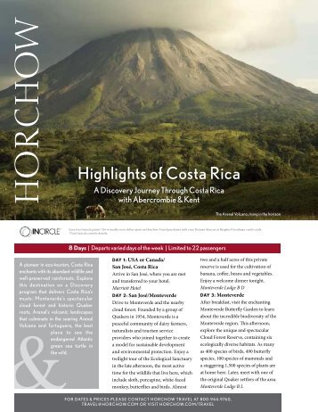 Highlights of Costa Rica
