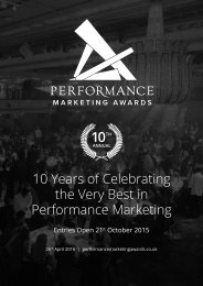 10 Years of Celebrating the Very Best in Performance Marketing