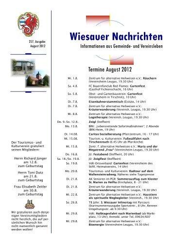 August 2012 - Markt Wiesau
