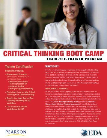 CriticAL THINKING BOOT CAMP