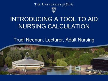 INTRODUCING A TOOL TO AID NURSING CALCULATION