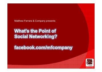 Matthew Ferrara & Company presents