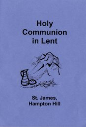 Holy Communion in Lent
