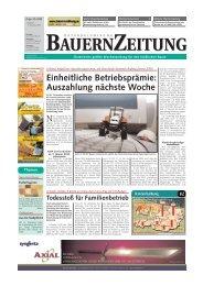 BAUERNZEITUNG BAUERNZEITUNG - Tiroler Bauernbund