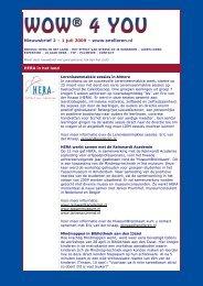 Nieuwsbrief 2 – 1 juli 2009 – www.snelleren.nl HERA in het land