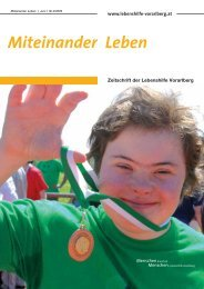 Miteinander Leben - Lebenshilfe Vorarlberg