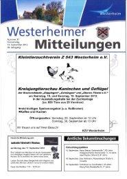 KW 37 vom 13. September 2012 - in Westerheim