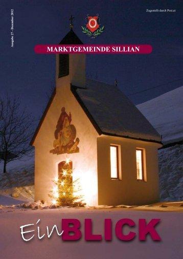 Ausgabe 27 - Dezember 2012 - Marktgemeinde Sillian
