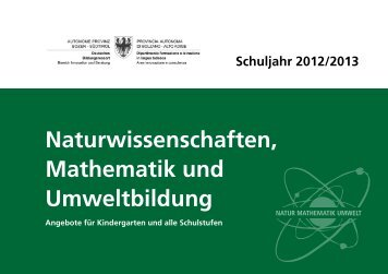 Naturwissenschaften, Ma the matik und Umweltbildung