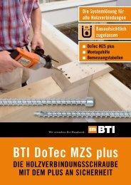 BTI DoTec MZS plus - BTI Befestigungstechnik GmbH & Co. KG