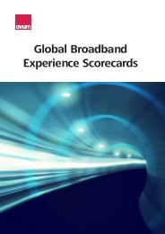 Global Broadband Experience Scorecards