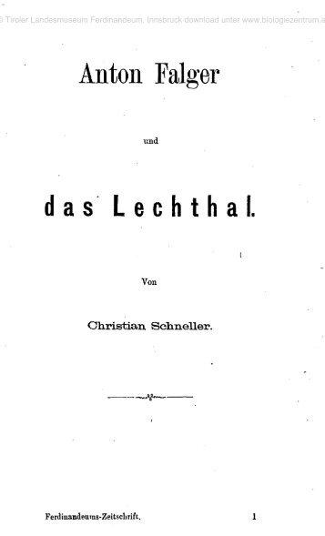 Anton Falger das Lechthal.