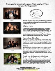 Thank you for choosing Keepsake Photography of Victor for your family portrait!