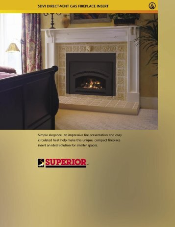 SDVI direct-vent Gas Fireplace Insert