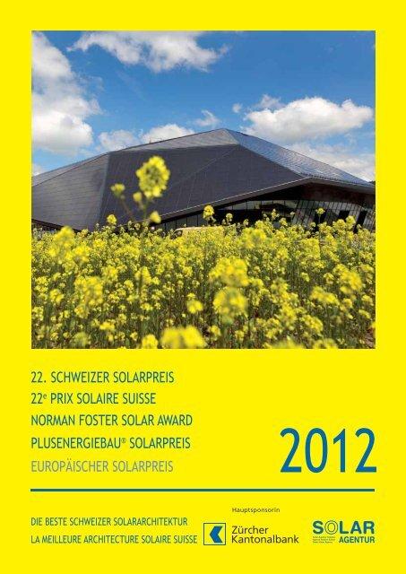 Schweizer Solarpreispublikation 2012 - Solar Agentur Schweiz