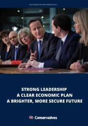 THE CONSERVATIVE PARTY MANIFESTO 2015
