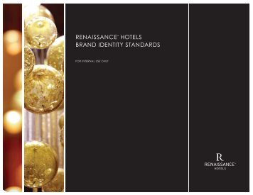 RENAISSANCE HOTELS BRAND IDENTITY STANDARDS