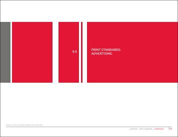 9.0 PRINT STANDARDS ADVERTISING |