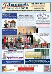 zum Schützenfest in Garzweiler vom 11. - 14. Mai 2012 - Jucunda