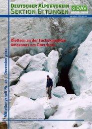 Sektionsmitteilungen Nr. 20 / Dezember 2010 - DAV Sektion Ettlingen