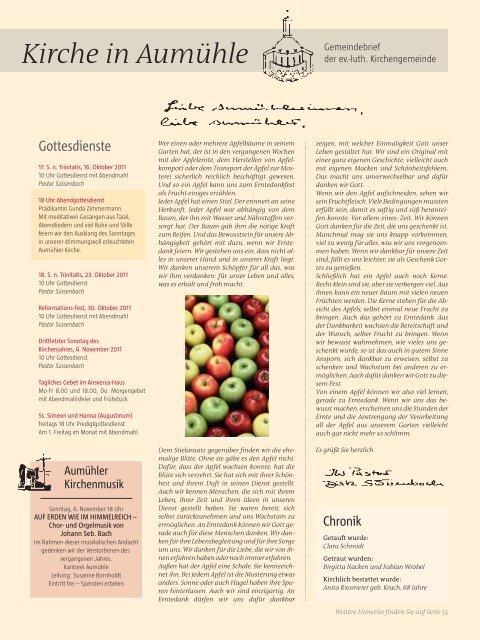 Oktober 2011 - Kurt Viebranz Verlag