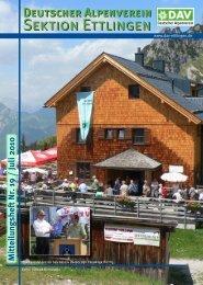 Sektionsmitteilungen Nr. 19 / Juli 2010 - DAV Sektion Ettlingen