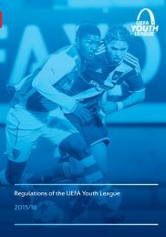Regulations of the UEFA Youth League 2015/16