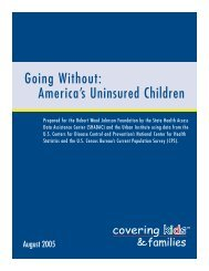 Going Without America's Uninsured Children