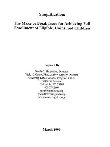 The Make or Break Issue for Achieving Full Enrollment of Eligible ...