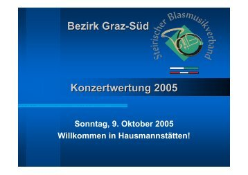 Bezirk Graz-Süd Konzertwertung 2005