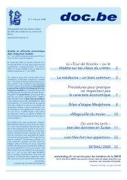 doc.be 1/2008 - Ärztegesellschaft des Kantons Bern