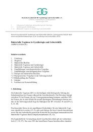 Bakterielle Vaginose in Gynäkologie und Geburtshilfe - DGGG